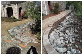 Green Side Up Landscaping by Green Side Up Landscape Retaining Wall Project Wilmington Nc