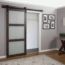 barn doors erias home designs continental frosted glass 1 panel ironage