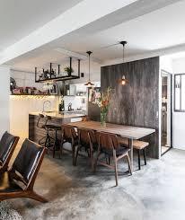 sala da pranzo design utilitarian apartment industriale sala da pranzo singapore