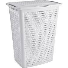 Badezimmer Kommode Holz Wäschekorb Weiß Holz Wäschesammler Günstig Online Kaufen