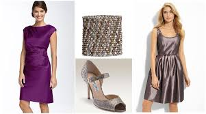 nordstrom bridesmaid sophisticated silver and purple bridesmaid dresses and accessories