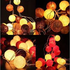 cheap new type cotton style string lights 3m white