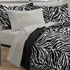 Zebra Bed Set Black White Zebra Bedding Comforter Set Xl Or