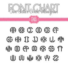 initial monogram fonts monogram font charts