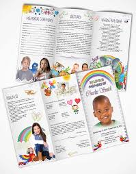 a childs passing funeral program template trifold tabloid brochure