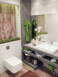 idea for a small but nature inspired modern bathroom small green