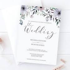 lavender wedding invitations purple bridal shower invitation template instant