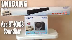 home theater soundbar ace bt k008 surround sound home theater soundbar unboxing lazada