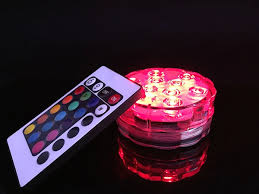 battery operated colored led lights with free shipping remote