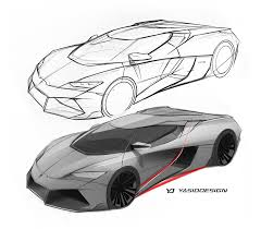 lamborghini sketch lamborghini huracan meets 2017 ford gt in mind blowing mashup