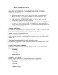 scholarship resume templates marvellous design scholarship resume template 7 templates fresh