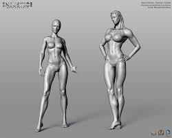 Female Anatomy Reference Injustice Gods Among Us Some Highres Zbrush Art Female 3d 2d