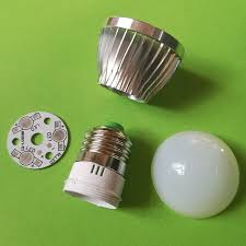 diy e27 led light bulb 3w aluminum cover
