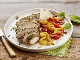cuisiner le basilic poivrons marinés au basilic et poulet grillé maggi