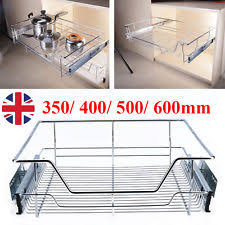 Pull Out Wire Baskets Kitchen Cupboards by 5 X 600mm Pull Out Wire Basket Kitchen Larder Base Unit Cupboard