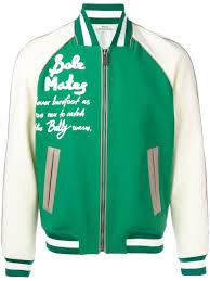Kaufen Kaufen Kaufen Bally Bomberjacke Im College Stil 992 Multigrass Herren Kleidung