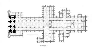 Gothic Church Floor Plan by Medieval Lincoln Minster Plans And Drawings