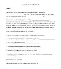 cease and desist letter template u2013 8 free word pdf documents