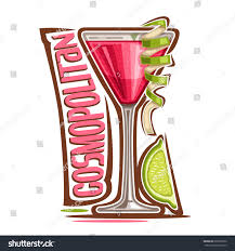 pink martini logo vector illustration alcohol cocktail cosmopolitan glass stock