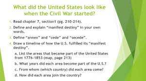 Manifest Destiny Map Civil War Ppt Download