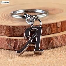 aliexpress key rings images New diy a z letters key chain for men silver metal keychain women jpg