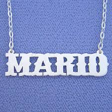Name Necklaces Silver Name Necklace Silver Mario Personalized Name Jewelry