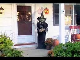 life size animated witch halloween decoration youtube