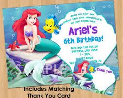 card invitation design ideas little mermaid thank you card