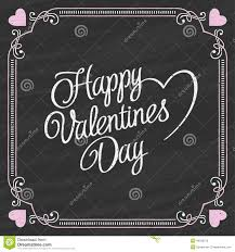 Valentine S Day Vector Decor by Valentines Day Lettering On A Chalkboard Background Stock Vector