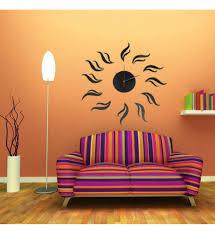 diy frameless wall clock decal modern home decor 3d mirror stickers