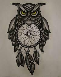 Owl Tattoos - owl designs ine trading colorful owl