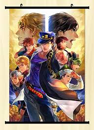 bizarre home decor amazon com home decor anime jojo s bizarre adventure wall scroll