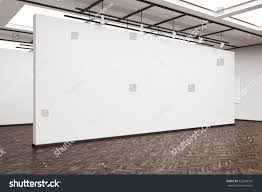 side veiw large blank white wall stock illustration 525248536
