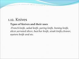 kitchen knives uses 2 0 kitchen apparatus and equipment identification