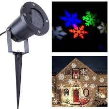christmas snowflake lights led projector white multi color
