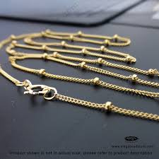 gold filled chain necklace images 24 inch 1 9mm bead satellite chain finished necklace 14k gold jpg