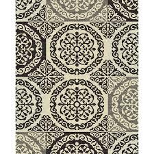 Rug Black Shop Style Selections Gabany Black Rectangular Indoor Woven Area