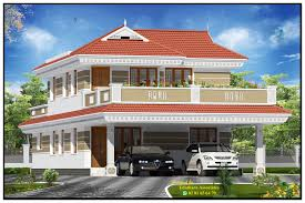Modern House Front View Double Floor – Modern House