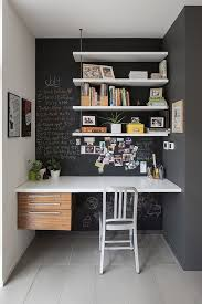 Create Storage Space With A Hidden Office Space With Built In Table And Blackboard Wall Desin