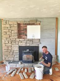 brick fireplace floor to ceiling makeover brick fireplace