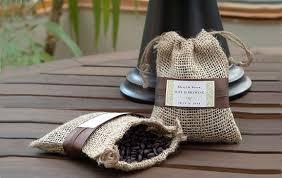 small burlap bags stunning burlap bags wedding favors coffee wedding favors