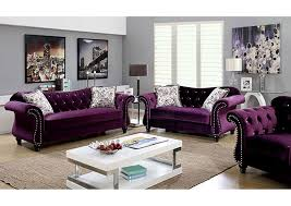 Curved Back Sofas Broadway Furniture Jolanda Purple Curved Back Sofa And Loveseat