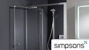 Infold Shower Door Simpsons Shower Enclosures