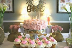 Diy 1st Birthday Centerpiece Ideas Lindsay U0027s Sweet World Olivia Cate U0027s Pink U0026 Gold First Birthday