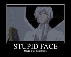 Meme Faces In Text Form - claude is sexy as hell but not as sexy as sebby black butler