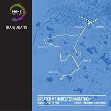 Chicago Marathon Map Personalised Manchester Marathon Poster By Printmetrics