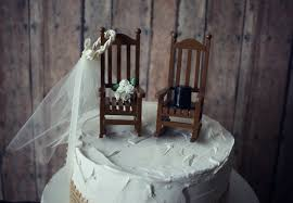 rocking chair cake topper rustic shabby woodlands mr and