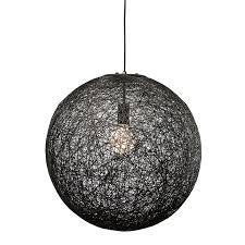 Modern Black Pendant Light String 20 Modern Pendant L Black