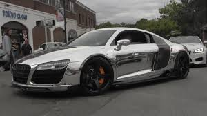 audi r8 gold chrome audi r8 arrival gold coast concours youtube