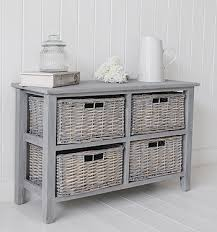 st ives grey wooden storage furniture low with baskets ideas and
